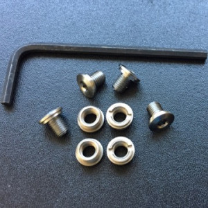 SLIM Stainless Steel Bushings & Screws with Hex Wrench